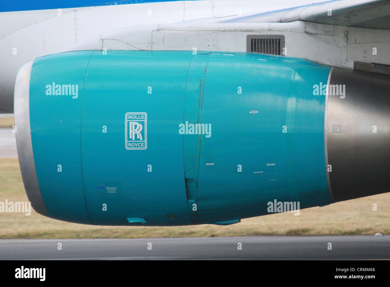 Rolls Royce aircraft jet engine - Stock Image