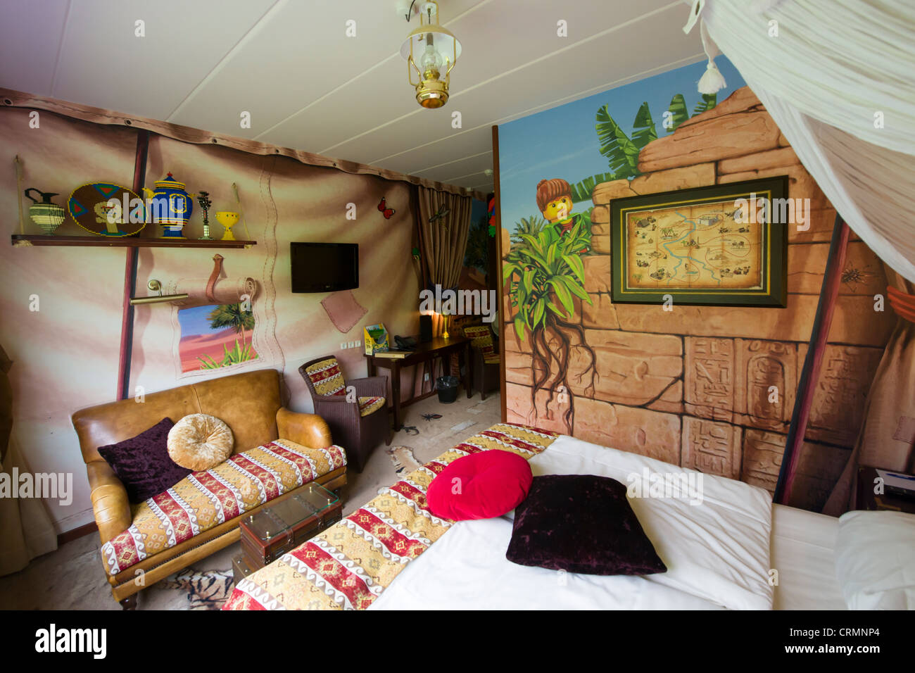 Interior Of Adventure Themed Room At The Hotel Legoland Legoland Billund Denmark Stock Photo Alamy