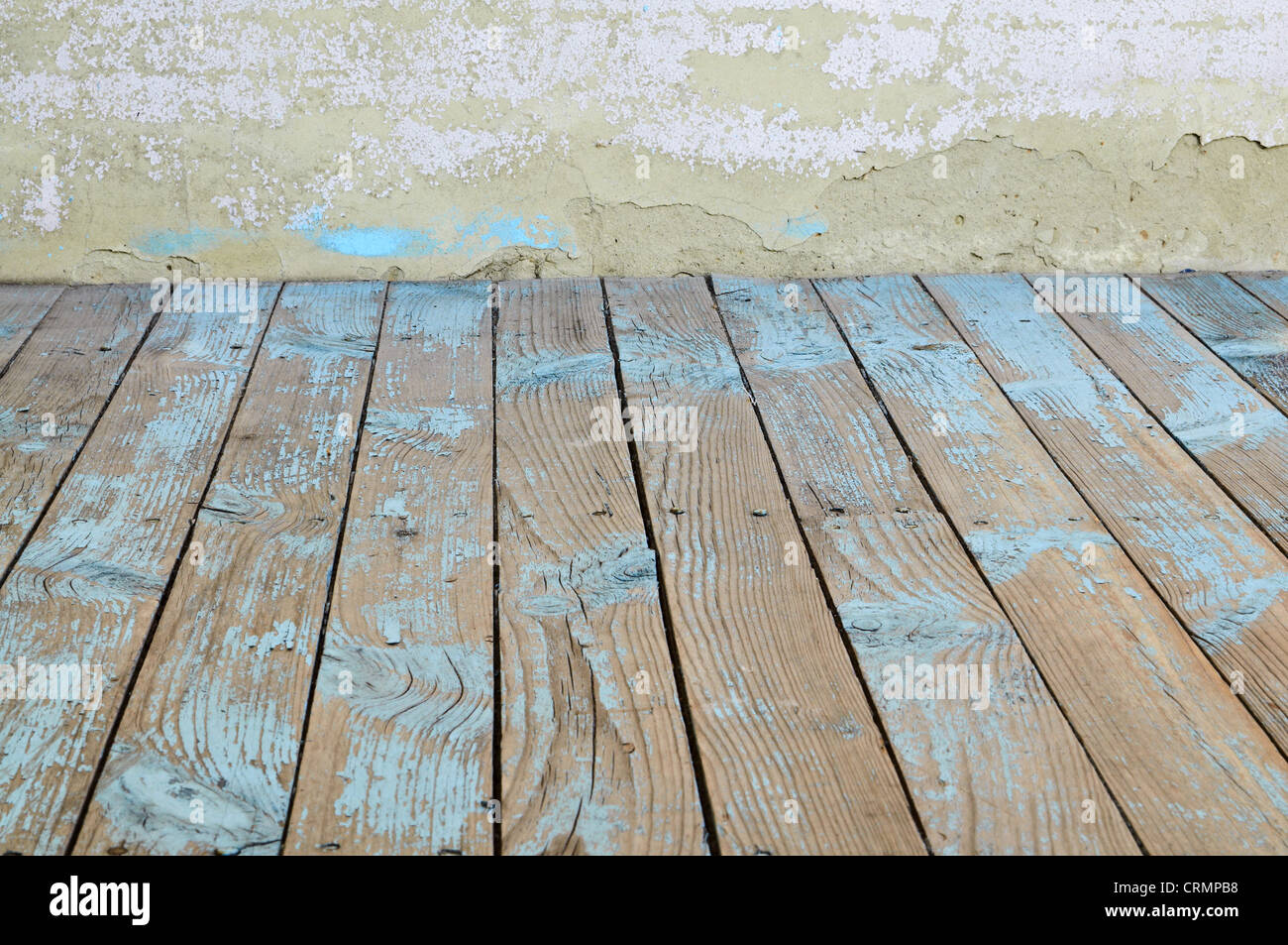 Grunge Interior Wall and Floor - Stock Image