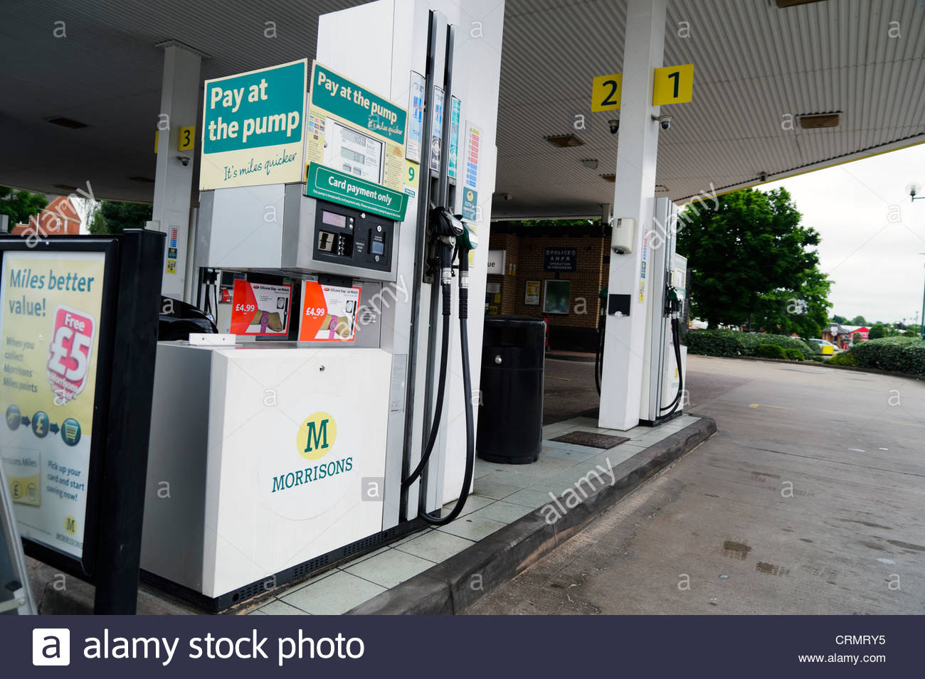 Morrisons supermarket petrol pump, Coventry, UK Stock Photo ...
