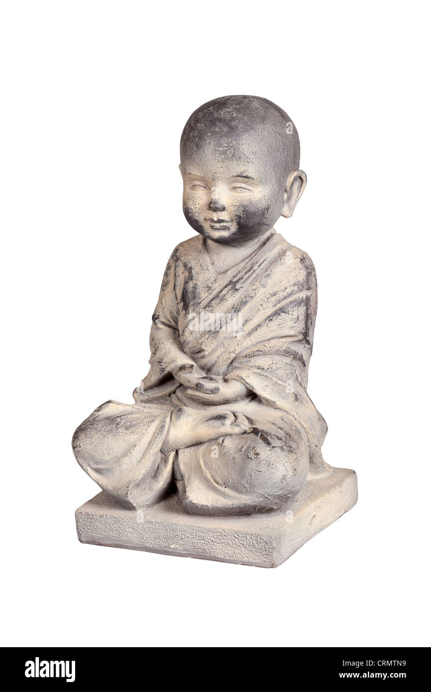 Stone statuette of a child Buddha - Stock Image