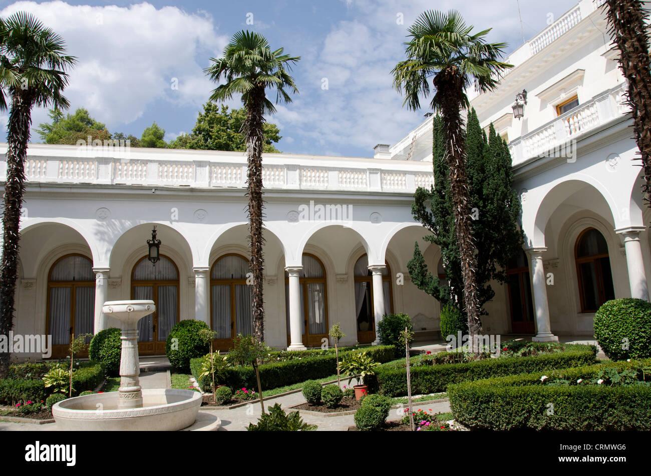Ukraine, Yalta. Livadia Palace. 1911 summer home of the last Russian Tsar, Nicholas II. - Stock Image