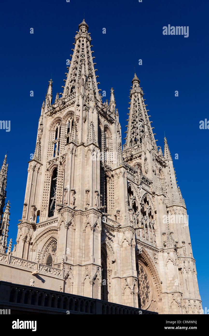 Cathedral of Burgos, Castilla y Leon, Spain - Stock Image