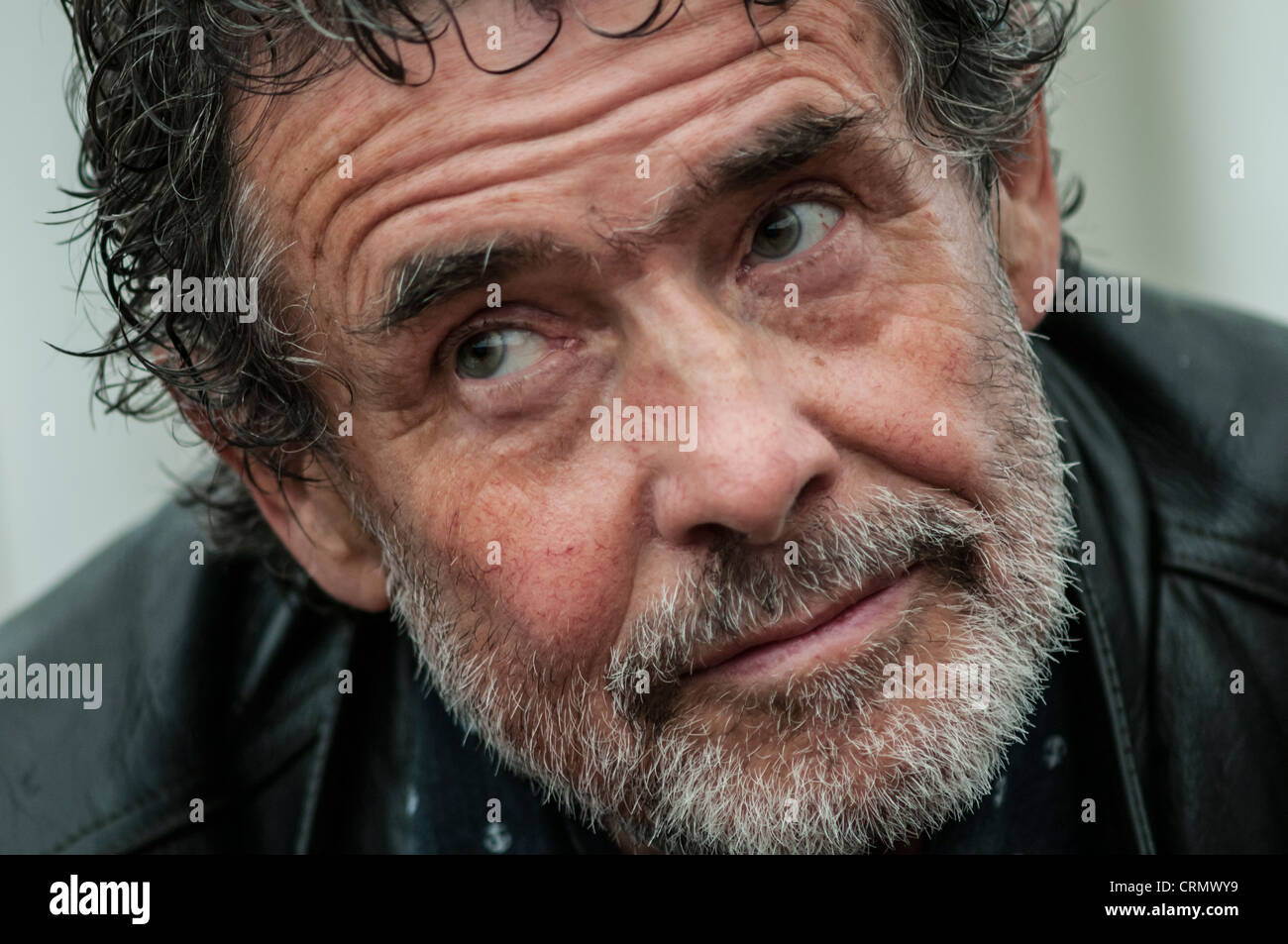 welsh artist and critic OZZIE OSI RHYS OSMOND at the Hay festival 2012 - Stock Image