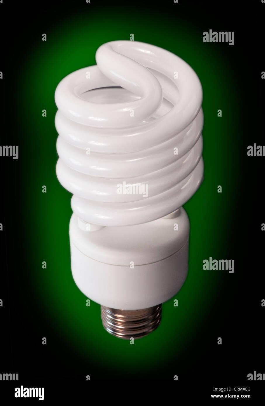 compact fluorescent light bulb - Stock Image