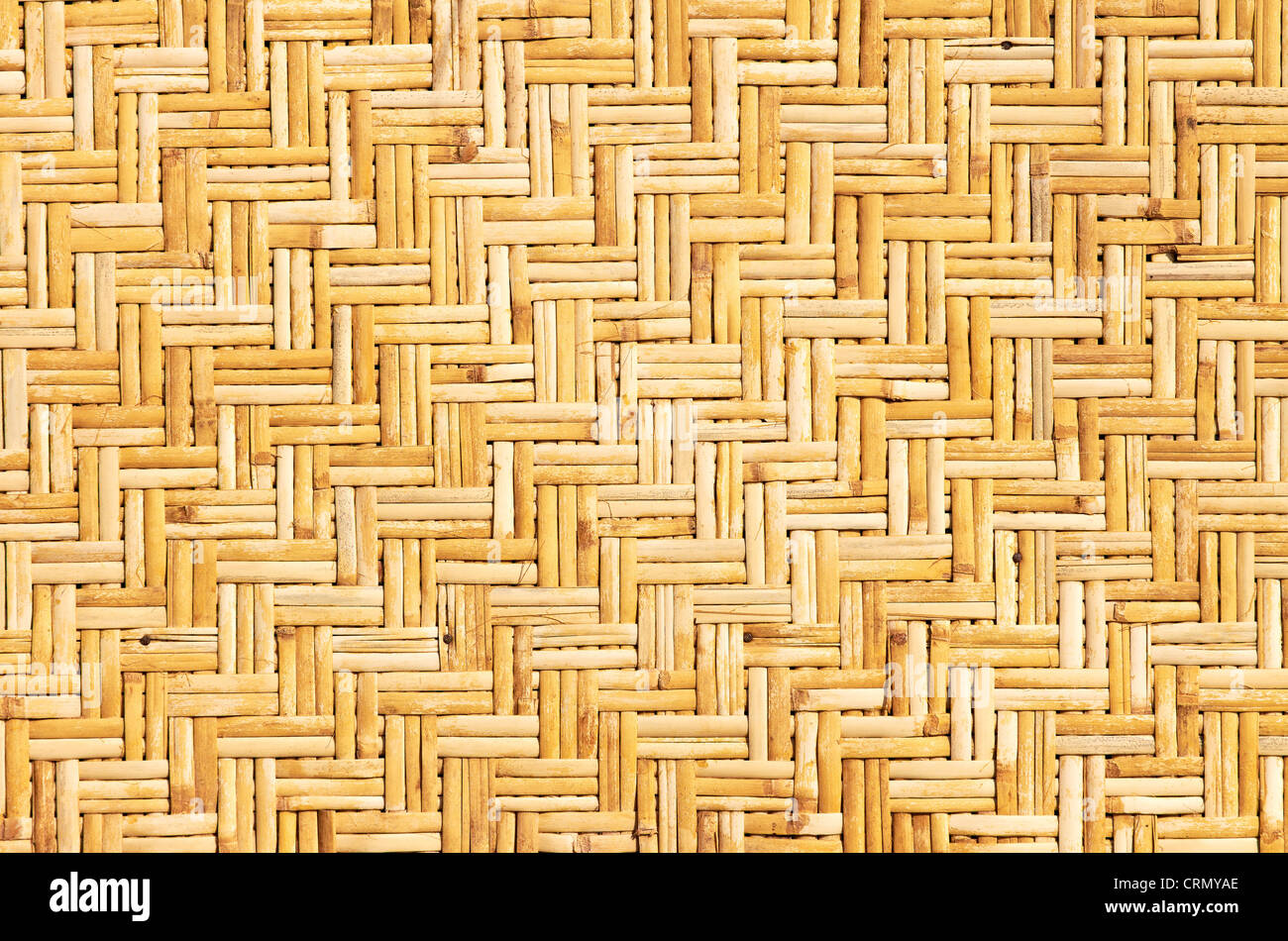Weaved straws of palm leaves as horizontal background Stock Photo