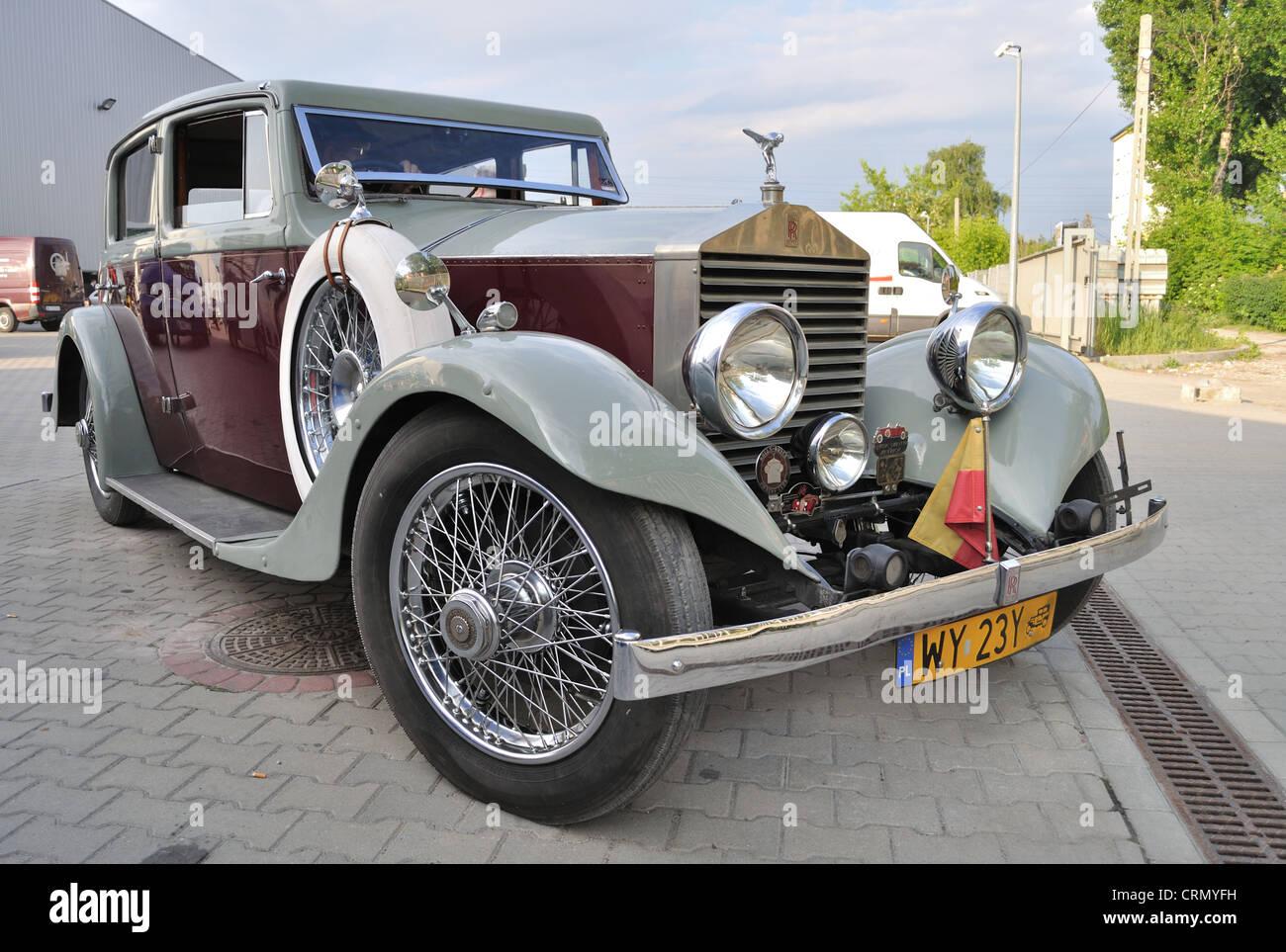 Vintage limousine - Rolls Royce Twenty 20HP - Stock Image