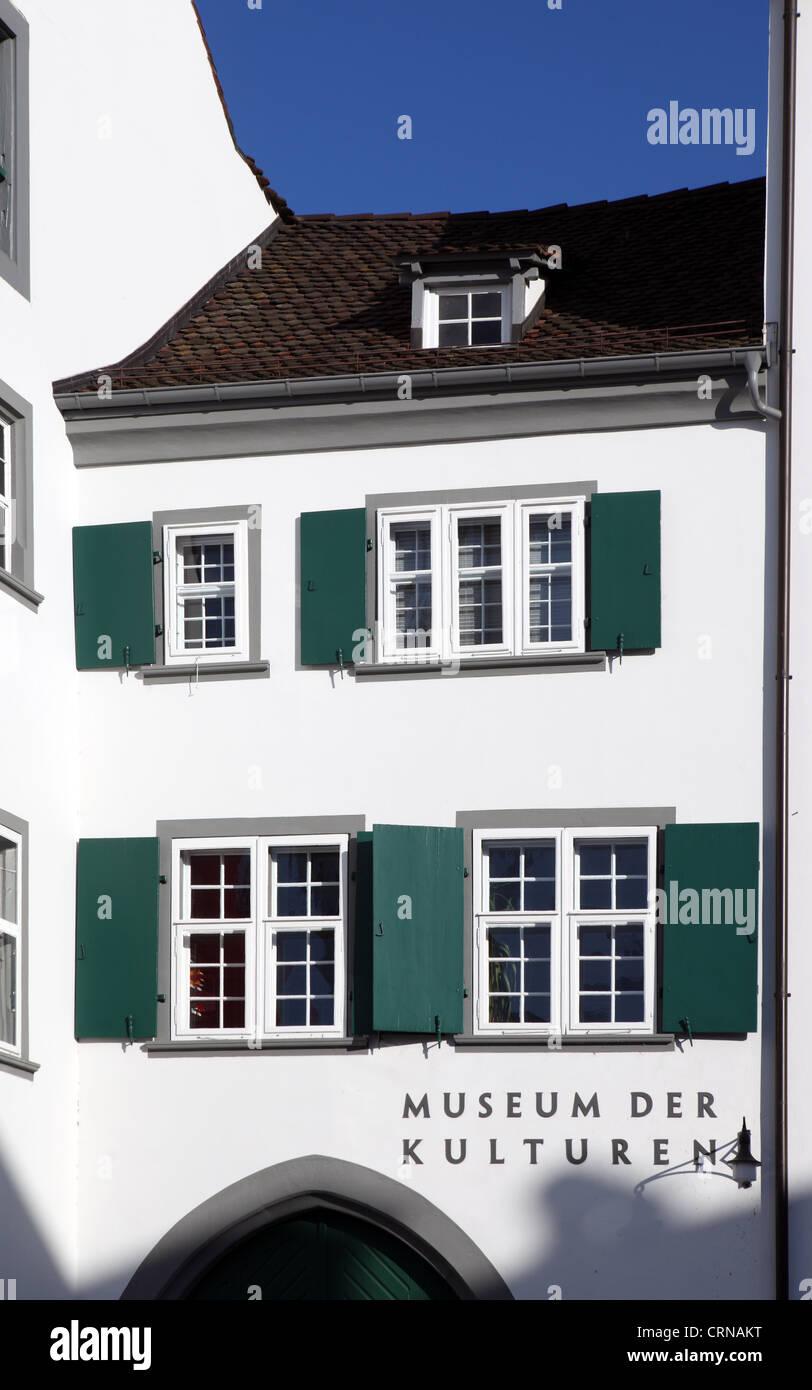 Museum de Kulturen, Culture Museum, Basel - Stock Image