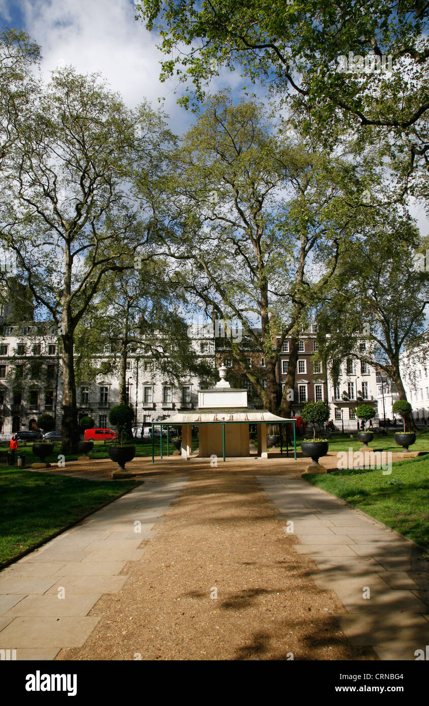 Berkeley Square, Mayfair, London, UK - Stock Image