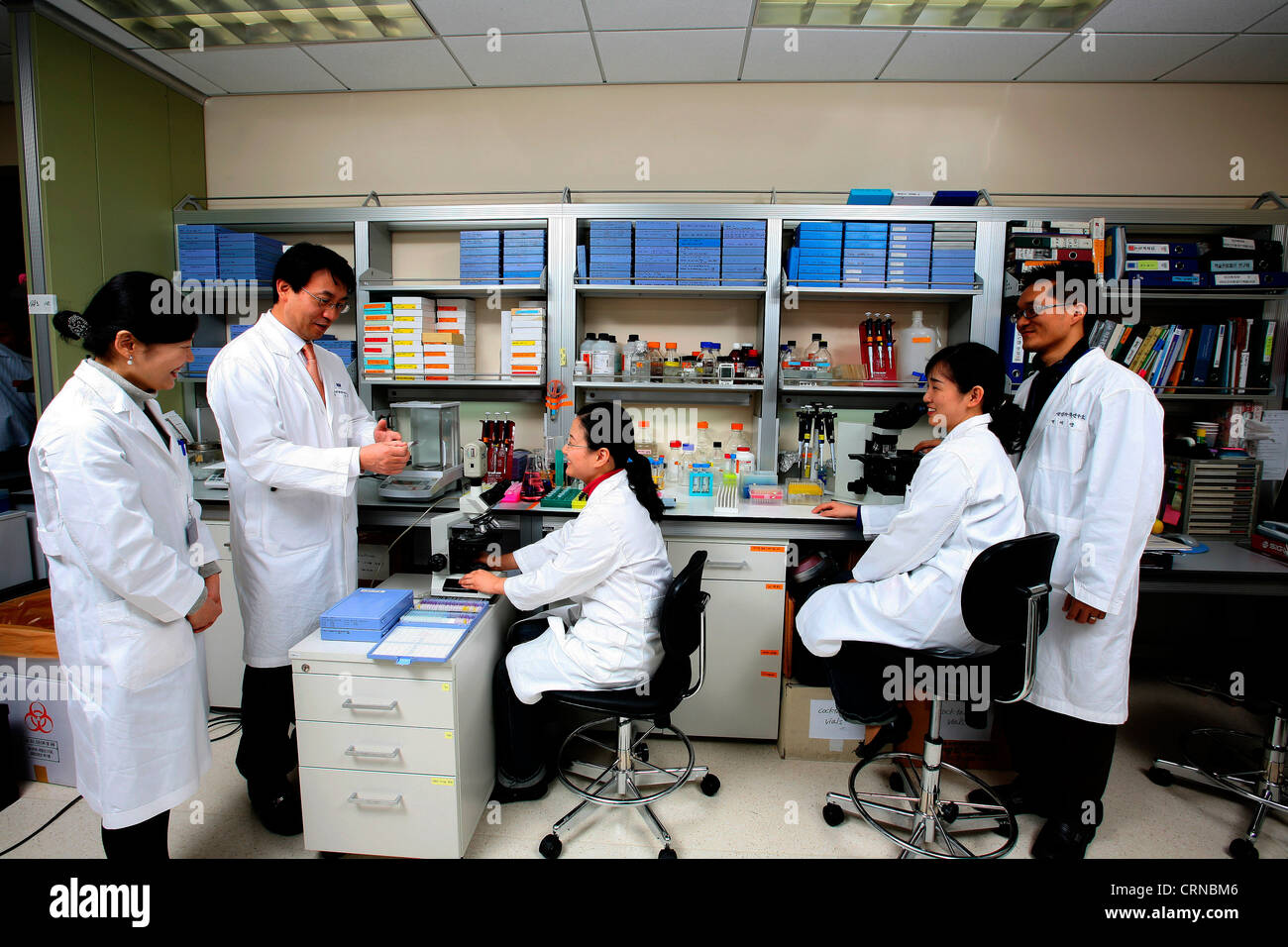 Students at the Samsung Biomedical Institute, Korea. - Stock Image