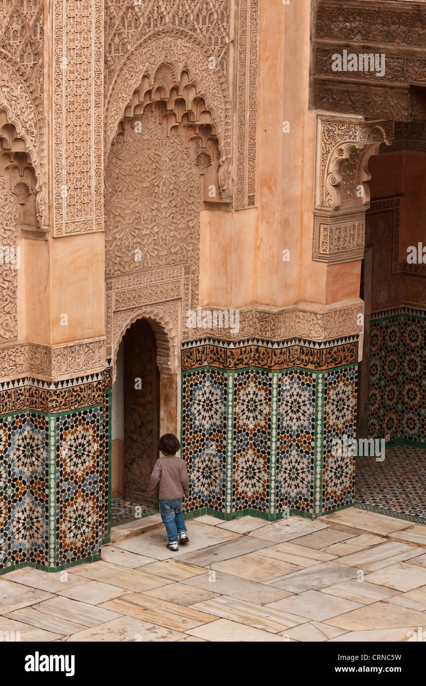 The Ali ben Youssef Medersa in Marrakech, Morocco - Stock Image
