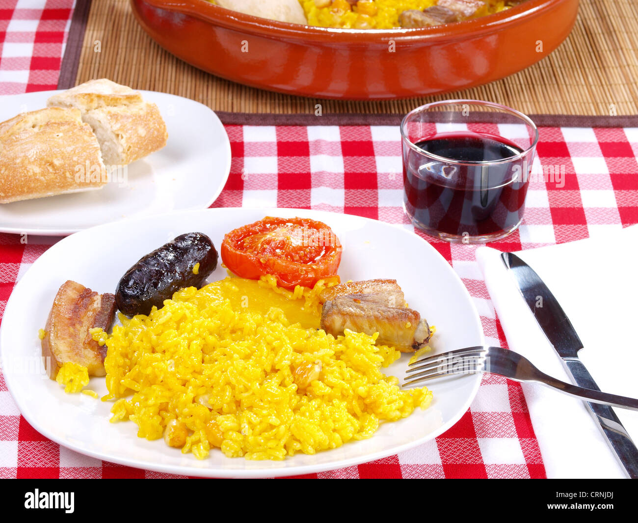 Arroz al Horno – Oven cooked rice Stock Photo