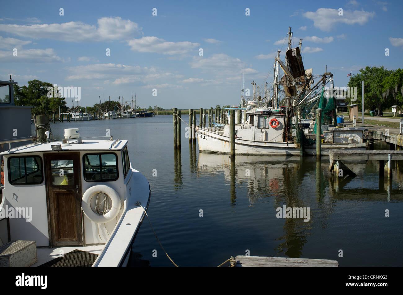 Fishing boat harbor at Apalachicola northwest Florida USA - Stock Image
