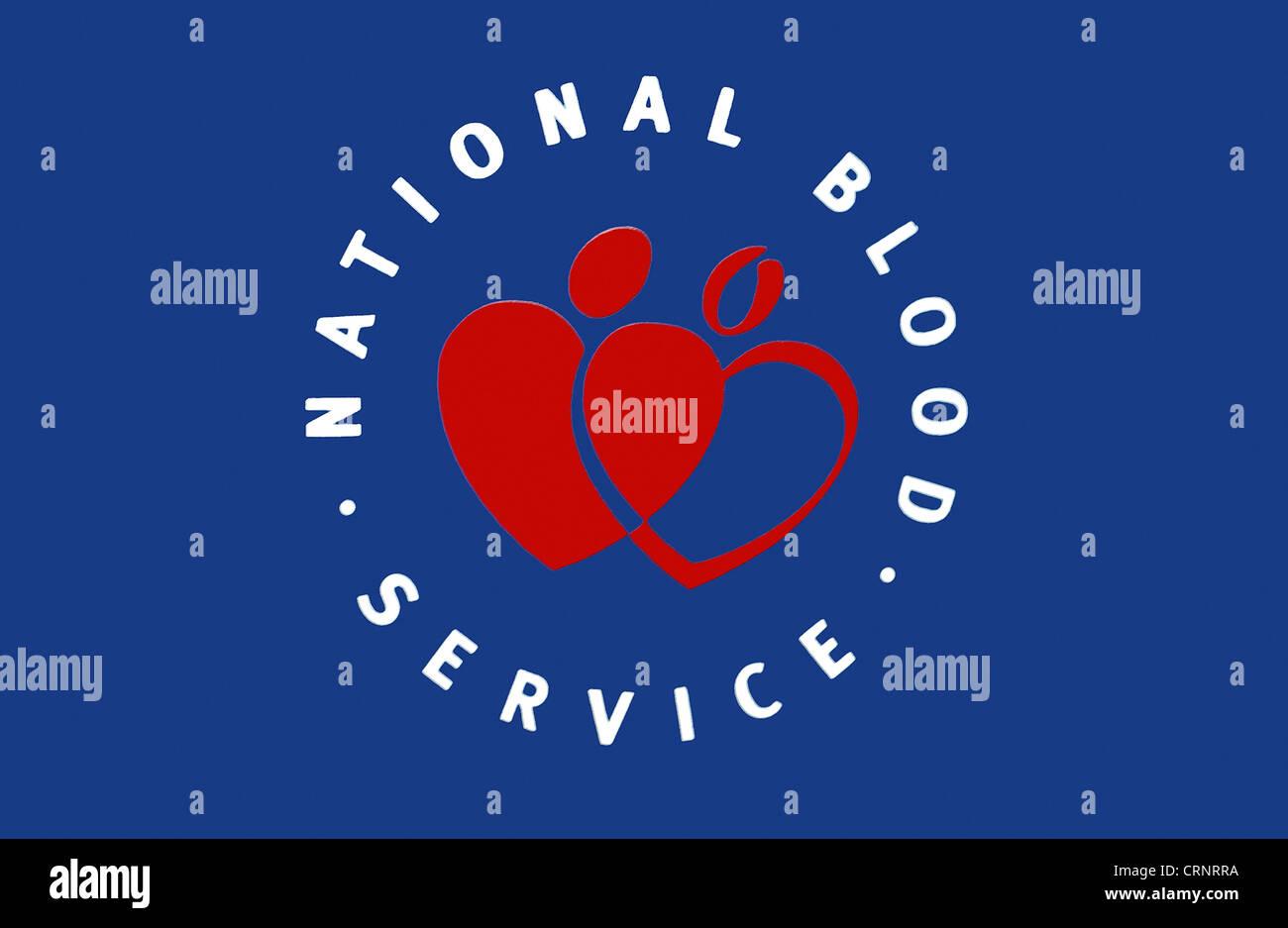 National Blood Service logo. - Stock Image