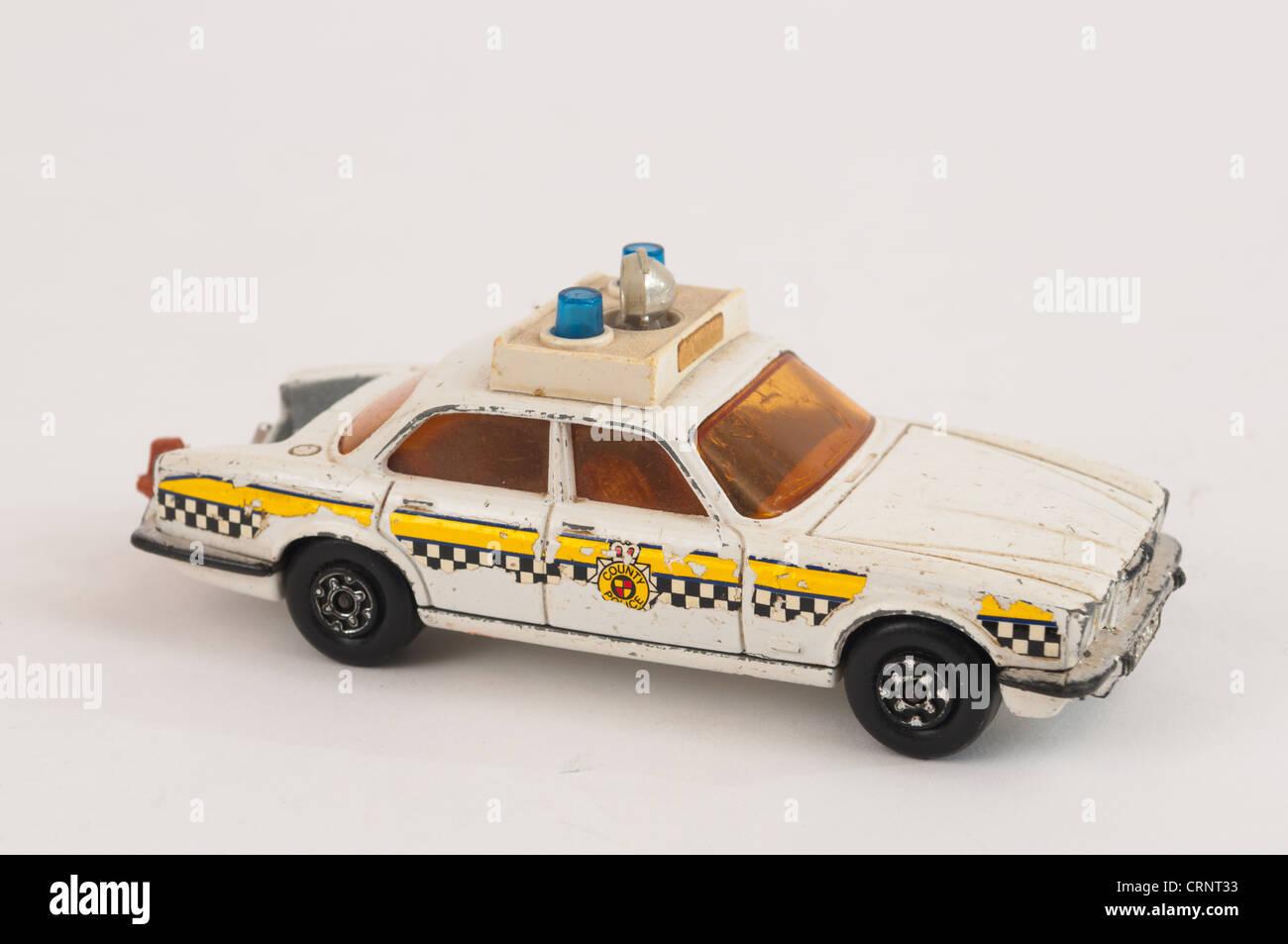 Matchbox Super Kings Jaguar XJ12 Police Car Toy Stock Photo