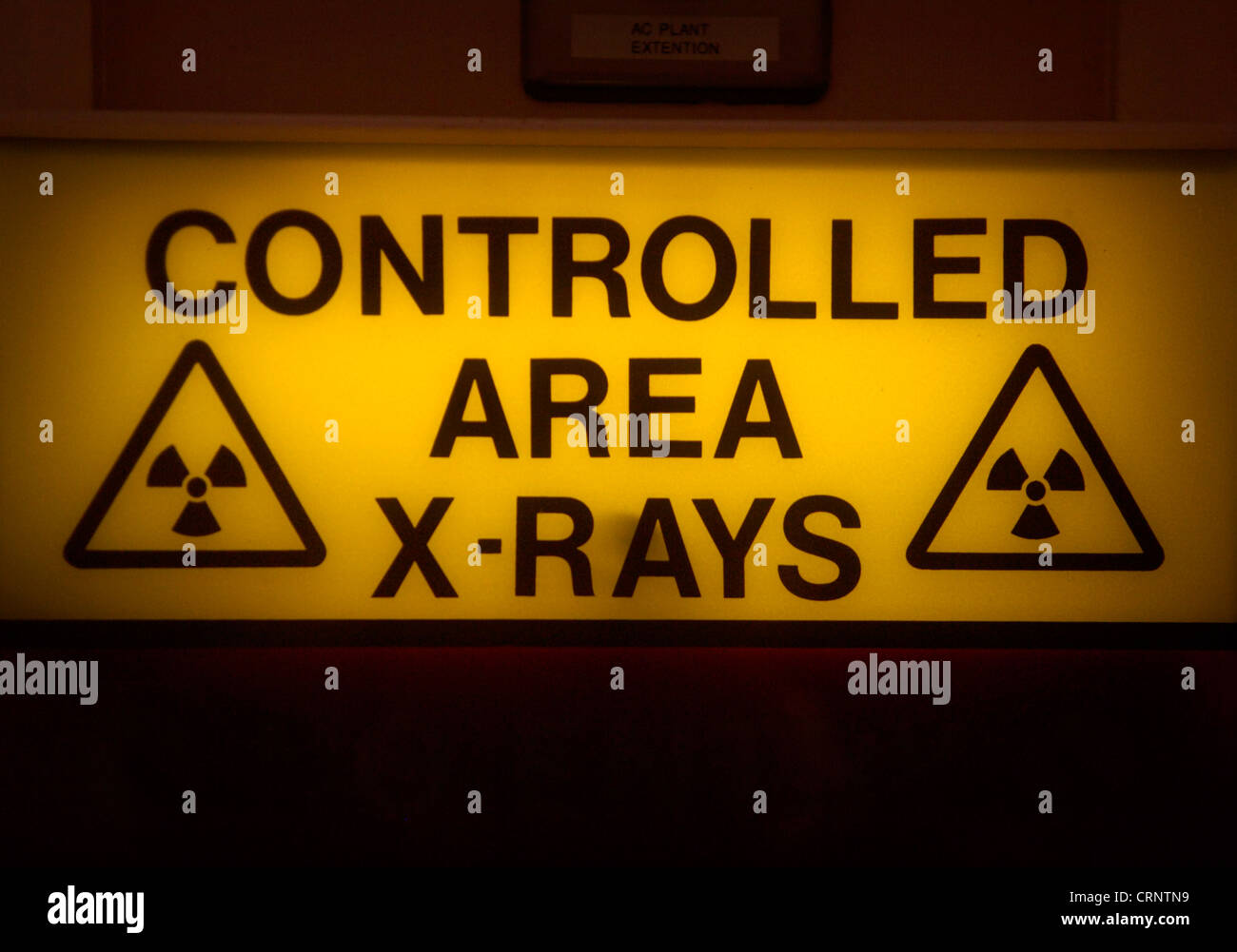 X ray controlled area sign - Stock Image