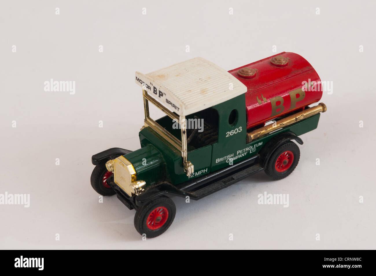 Matchbox Models Of Yesteryear Model T Ford BP petrol tanker Stock Photo