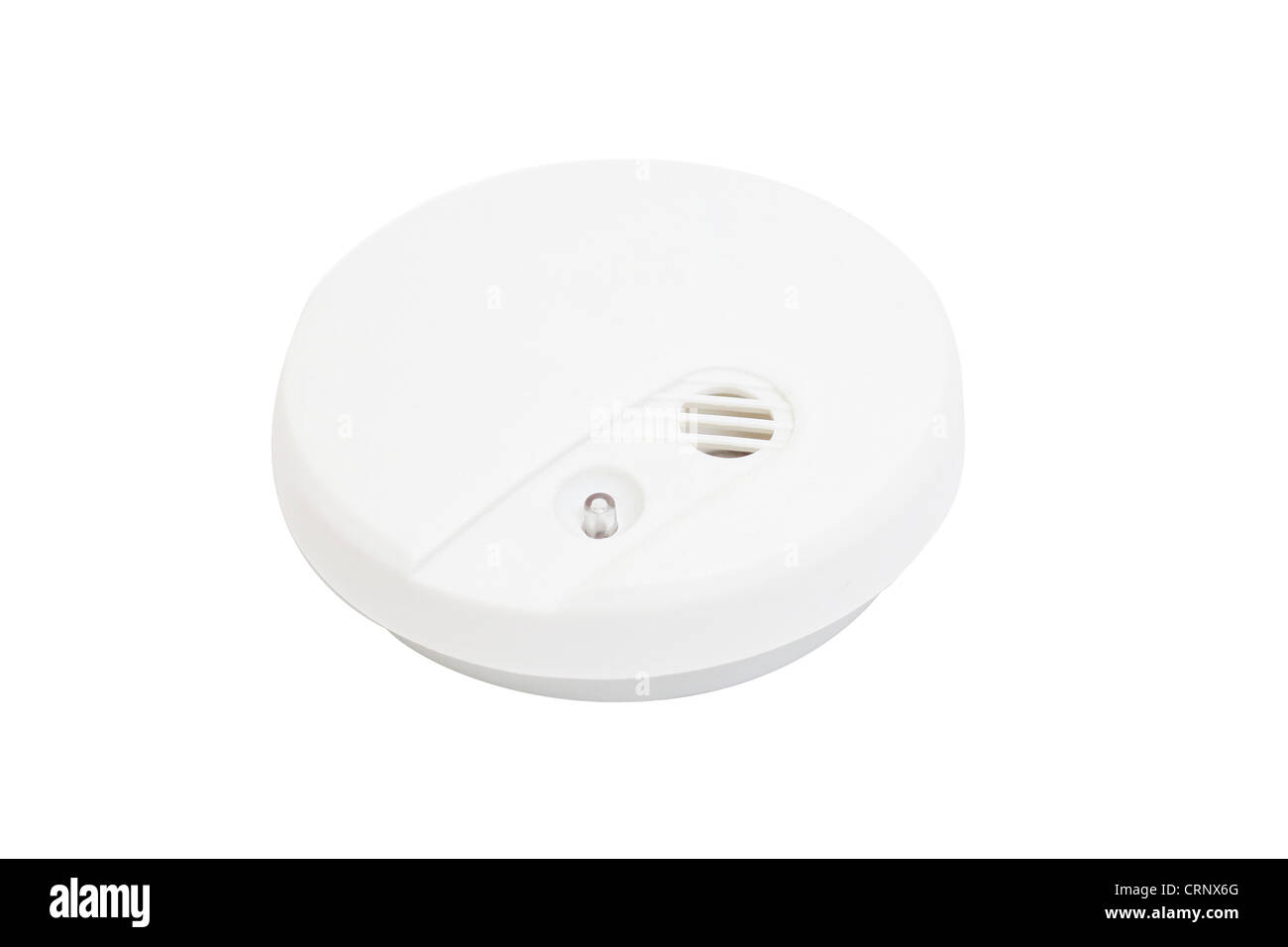 A smoke detector isolated on white - Stock Image