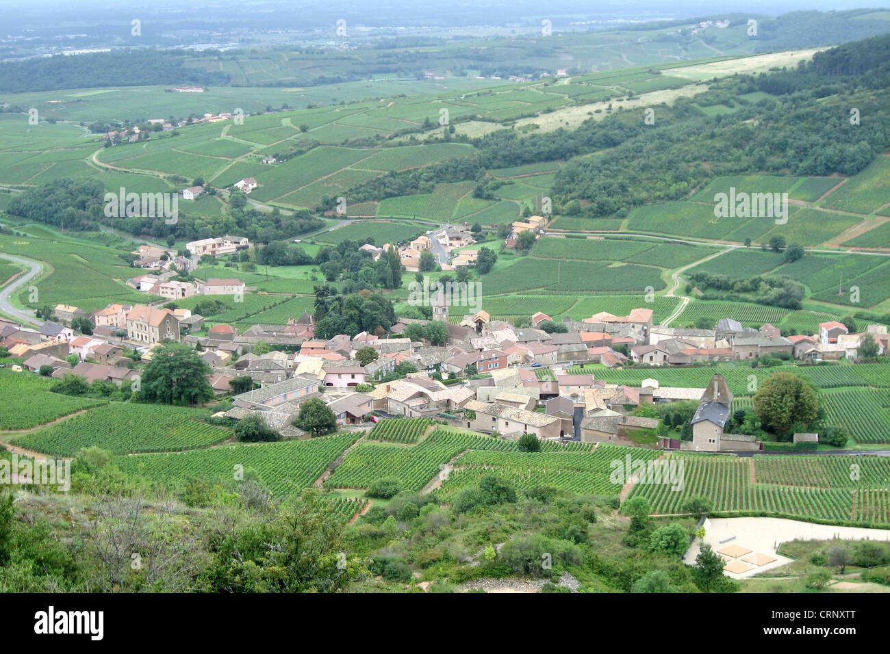 A village in the northern France countryside - Stock Image