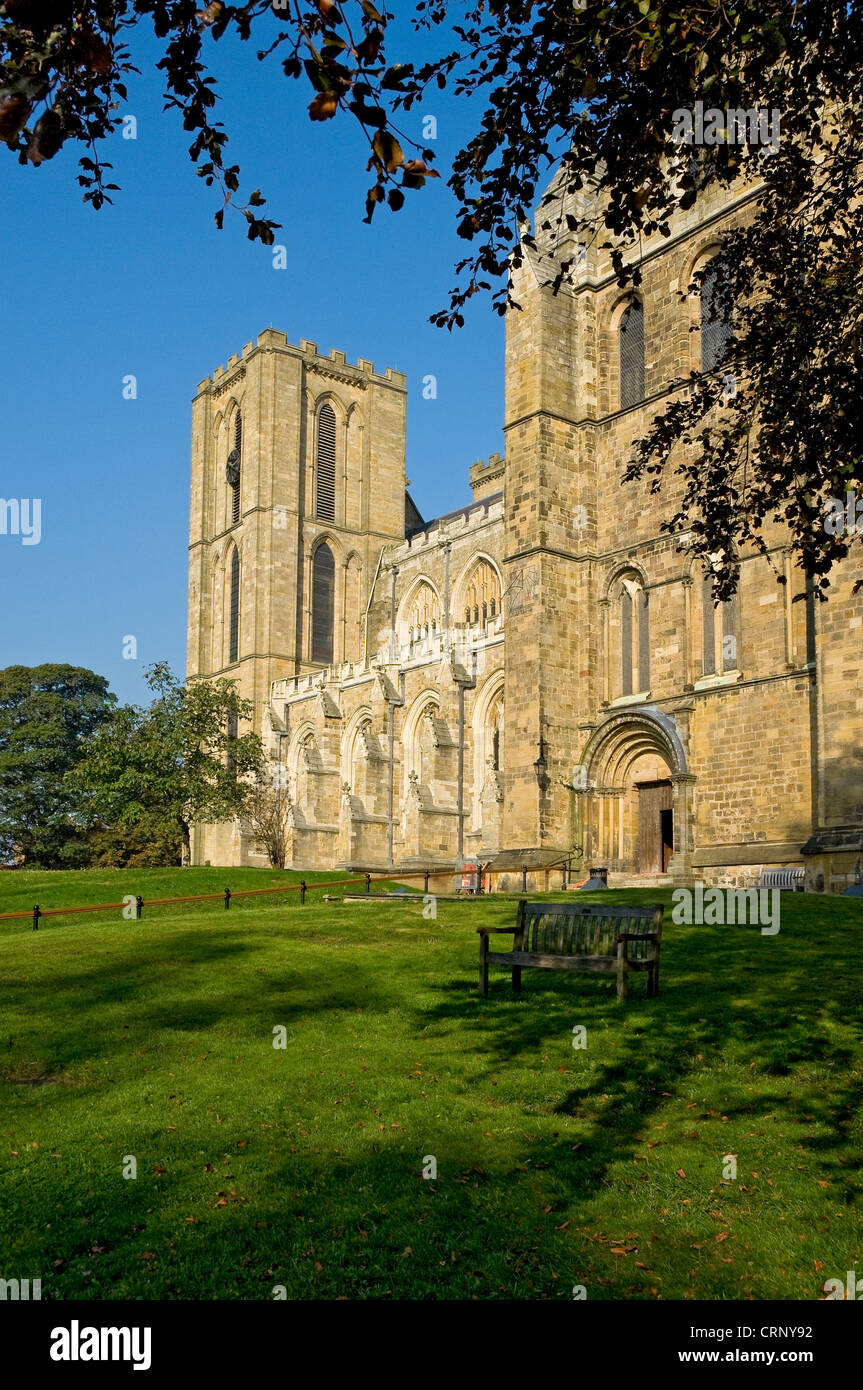 South Front of Ripon Cathedral. - Stock Image