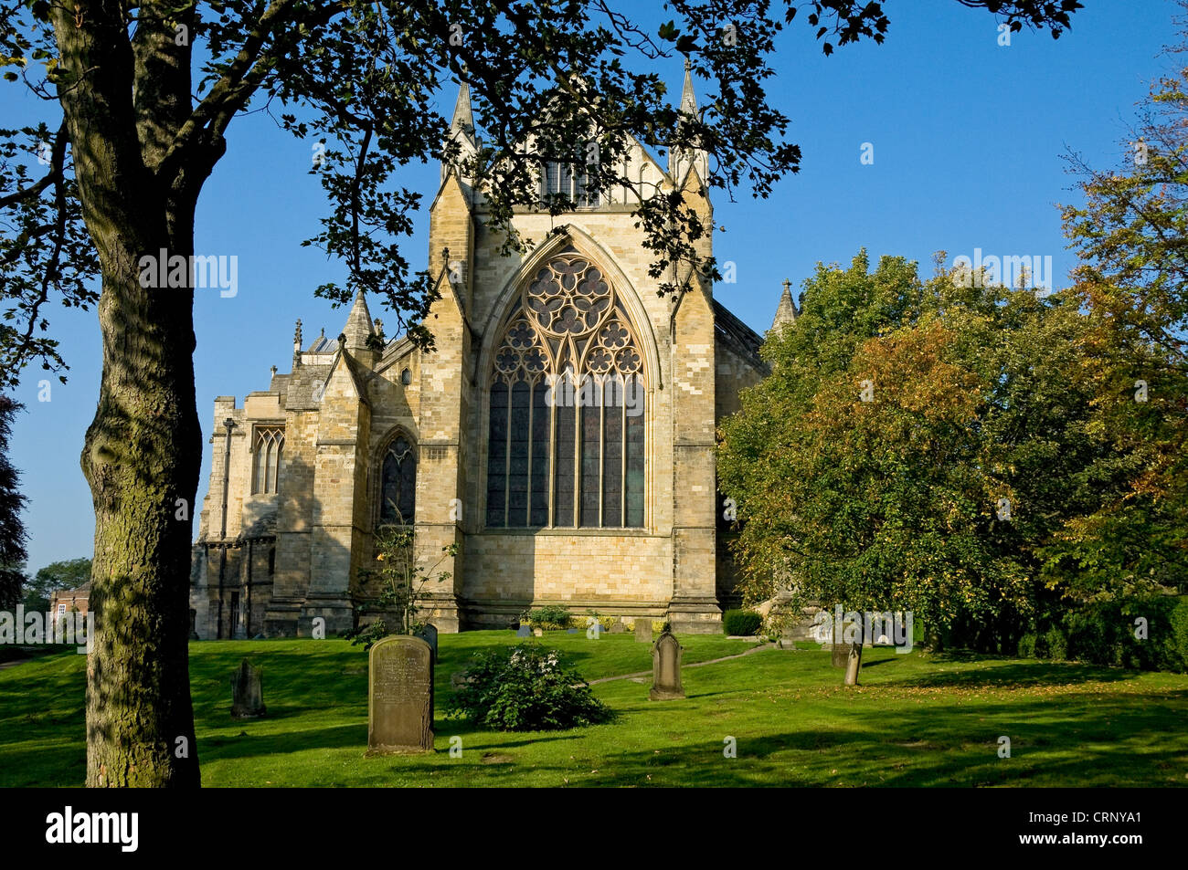 East Front of Ripon Cathedral. - Stock Image