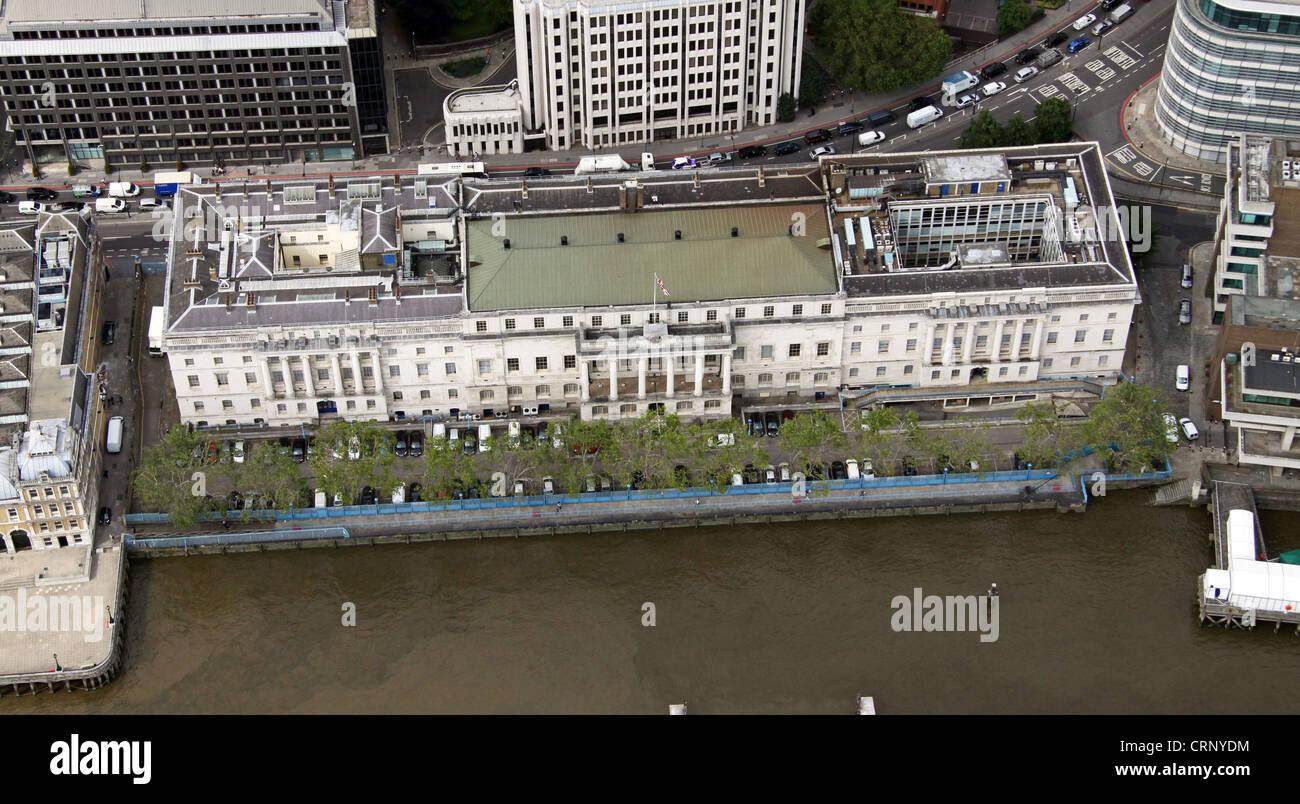 aerial view of Custom House, Lower Thames Street, London EC3 - Stock Image