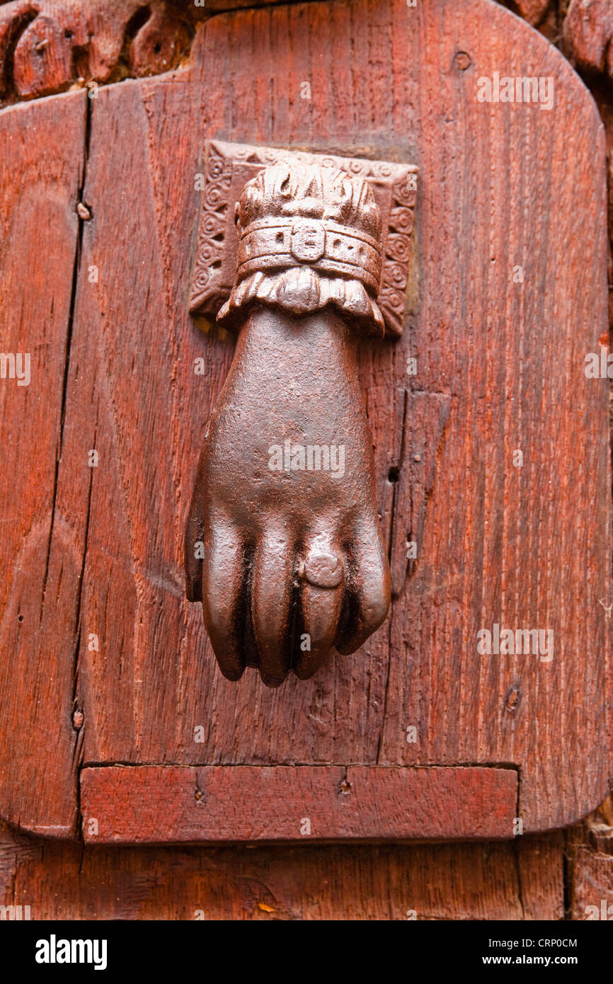 An Old Fashioned Door Knocker On The Office Du Tourism Or Touist Office In  Rennes, France.
