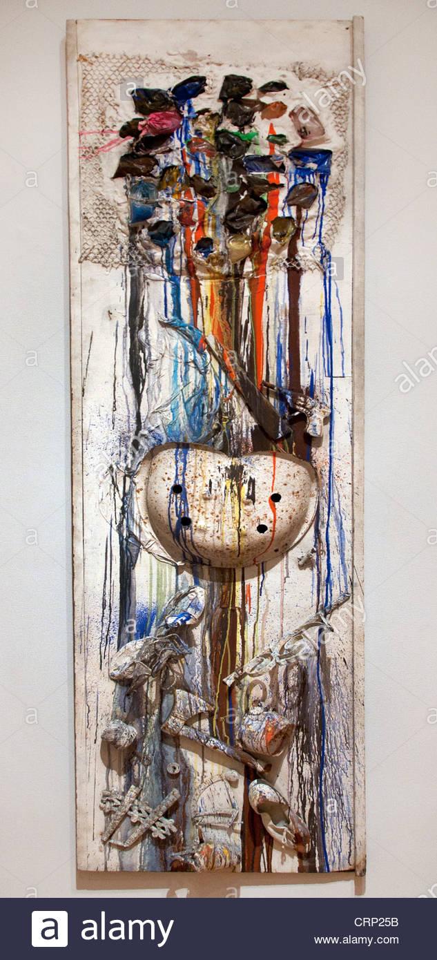 shooting painting american emby 1961 niki de saint phalle french france stock image