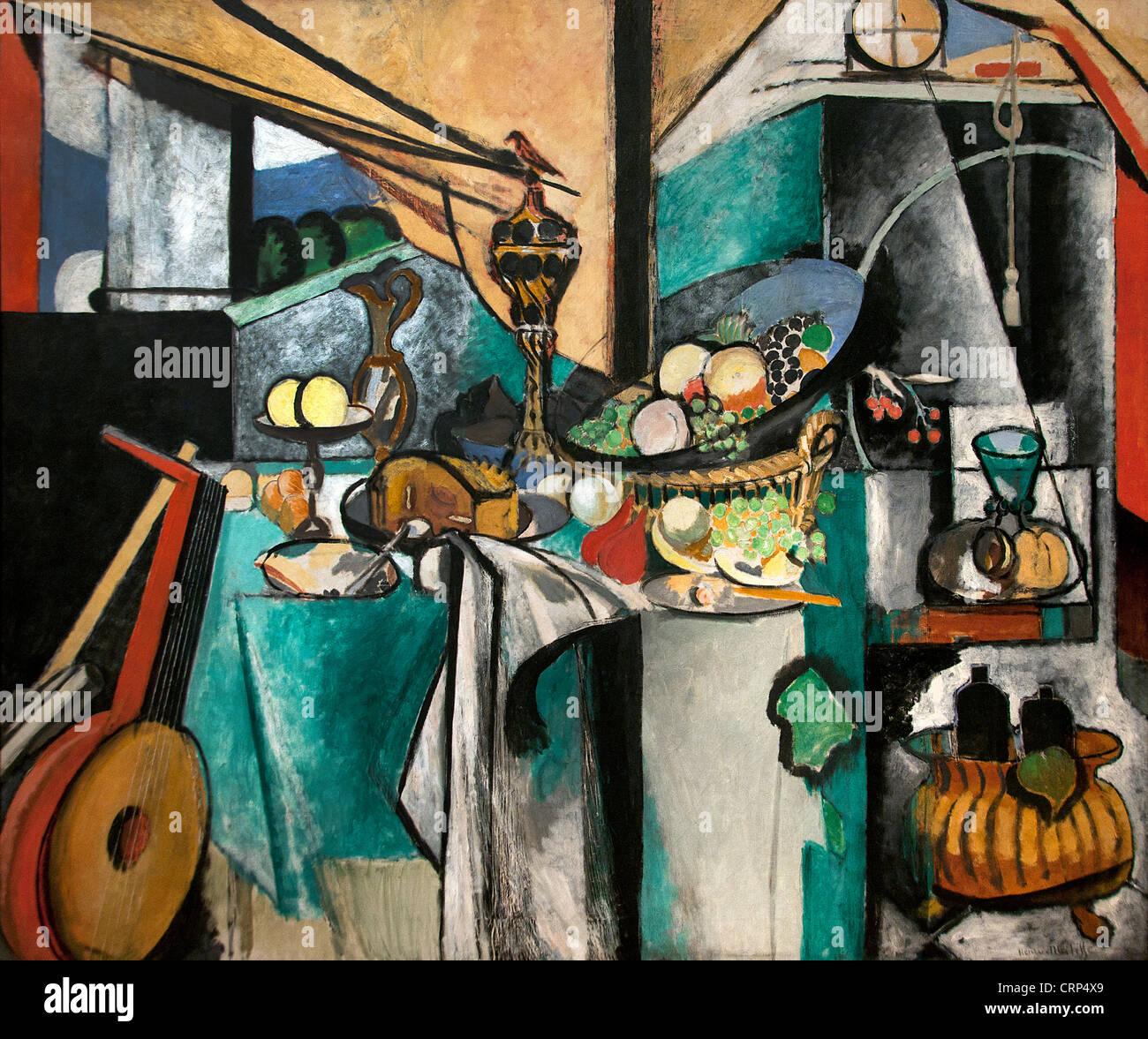 Still Life after Jan Davidsz. de Heem's La Desserte - the trolley 1915  Henri Matisse France French Painter Stock Photo