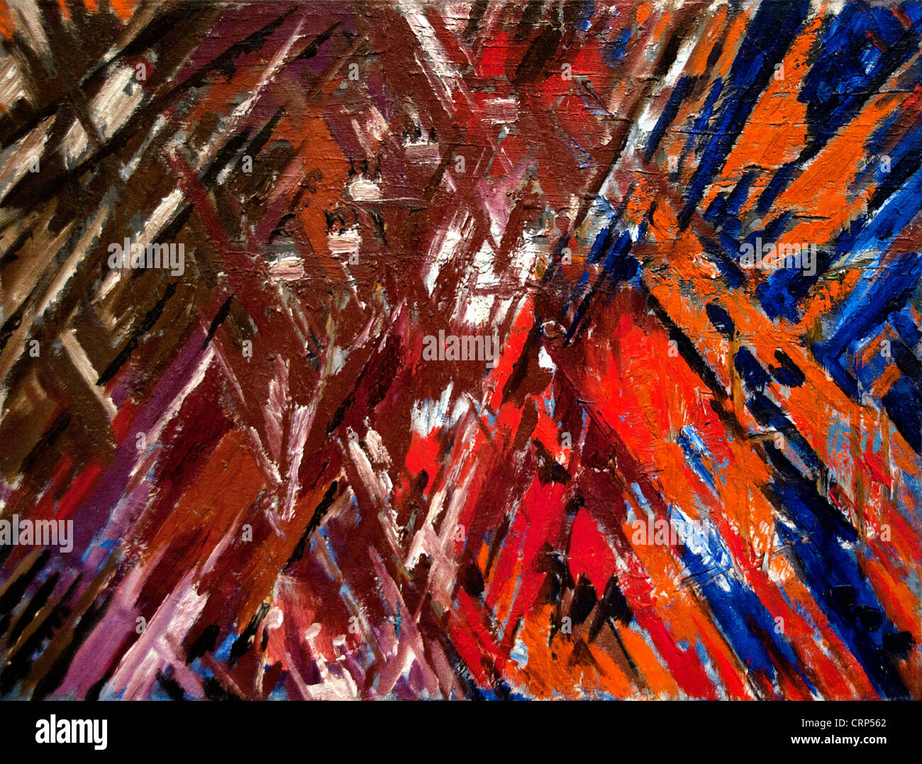 Rayonist Composition- Domination of Red  1913  Mikhail Larionov Russian Russia - Stock Image