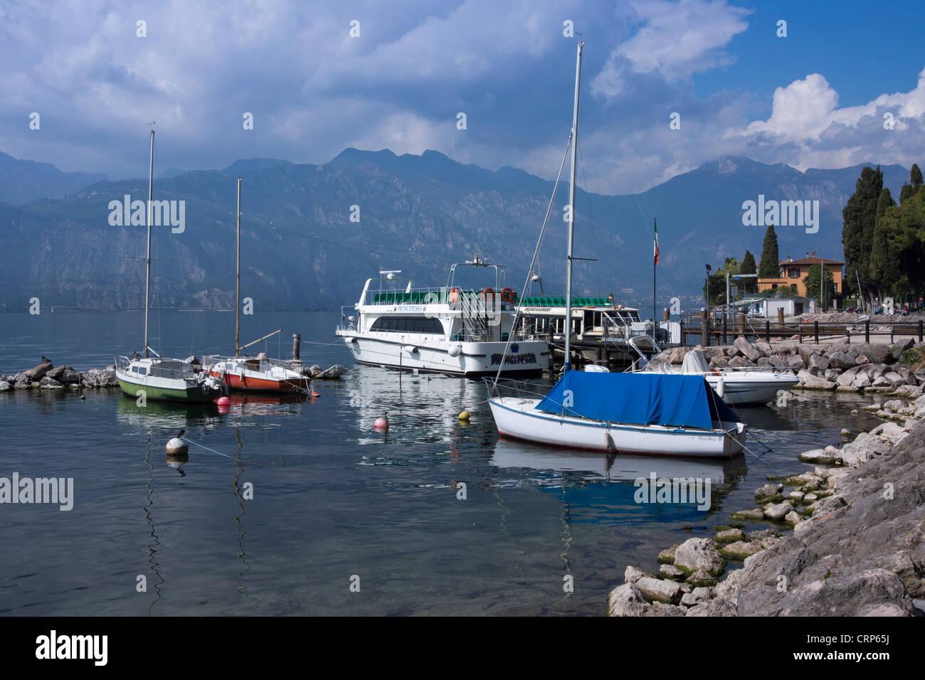 Malcesine, Lake Garda, region Veneto, province Verona, Italy, Europe Stock Photo