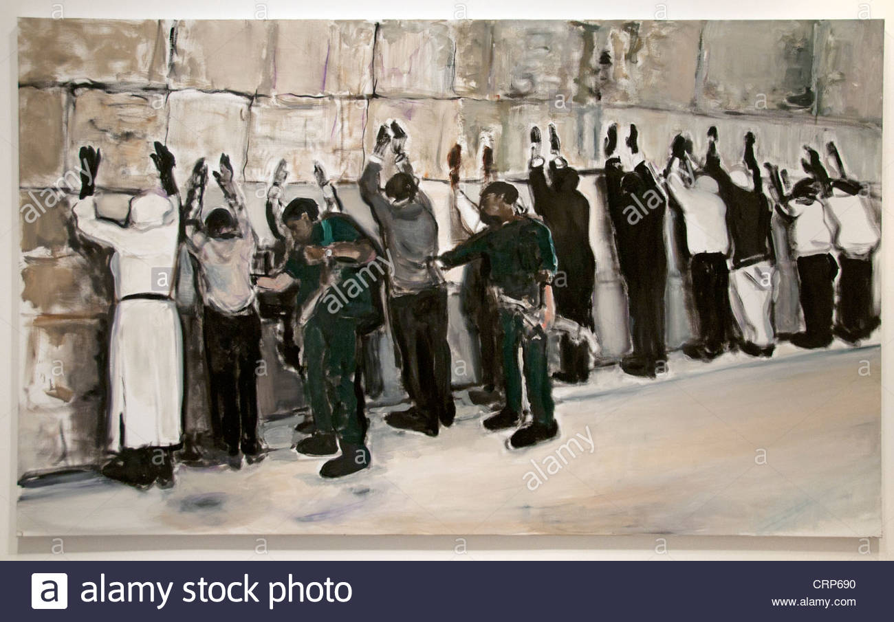 Wall Painting 2009 Marlene Dumas South African Africa - Stock Image
