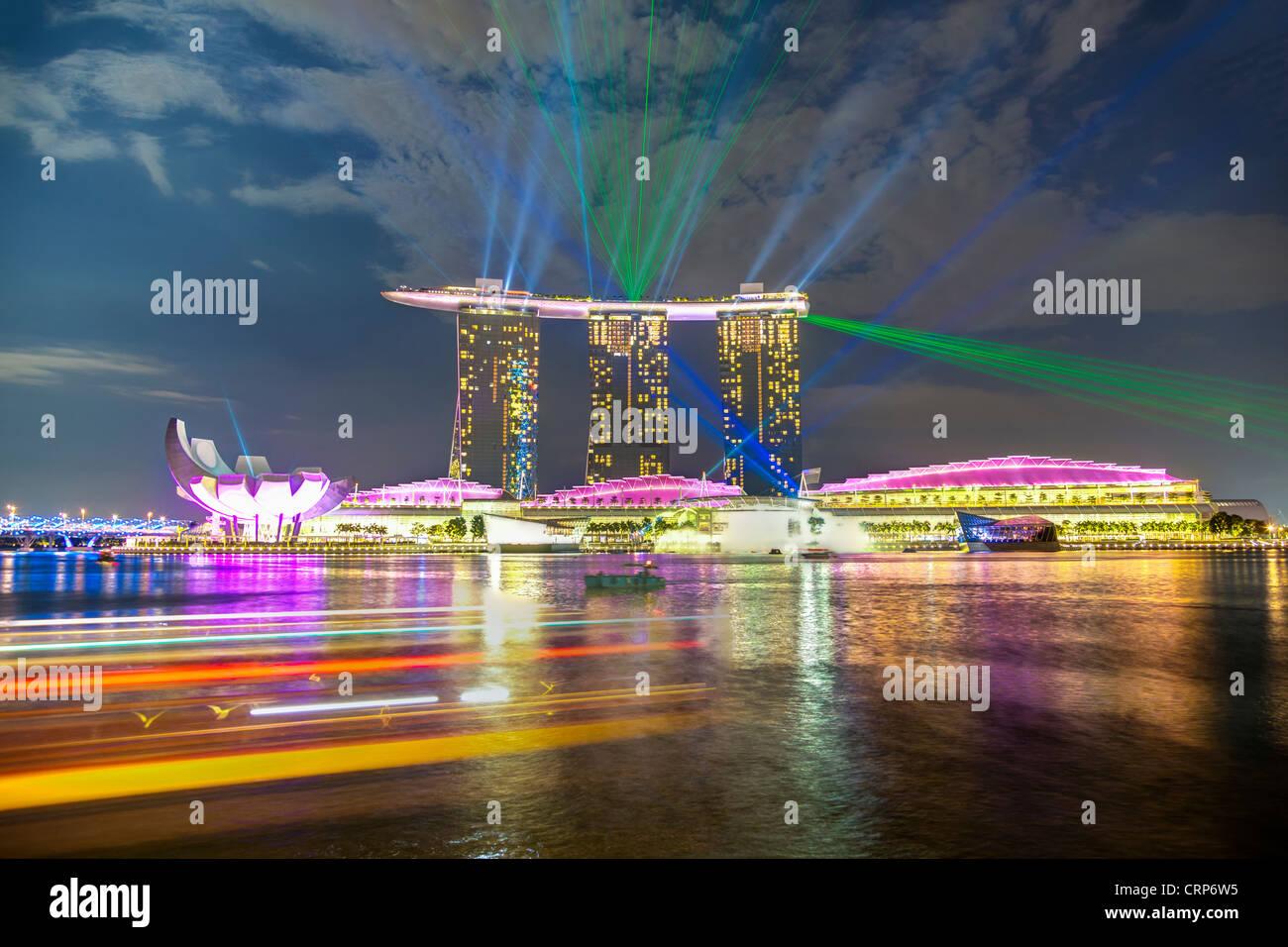 Marina Bay Sands, Marina Bay, Singapore, South East Asia - Stock Image