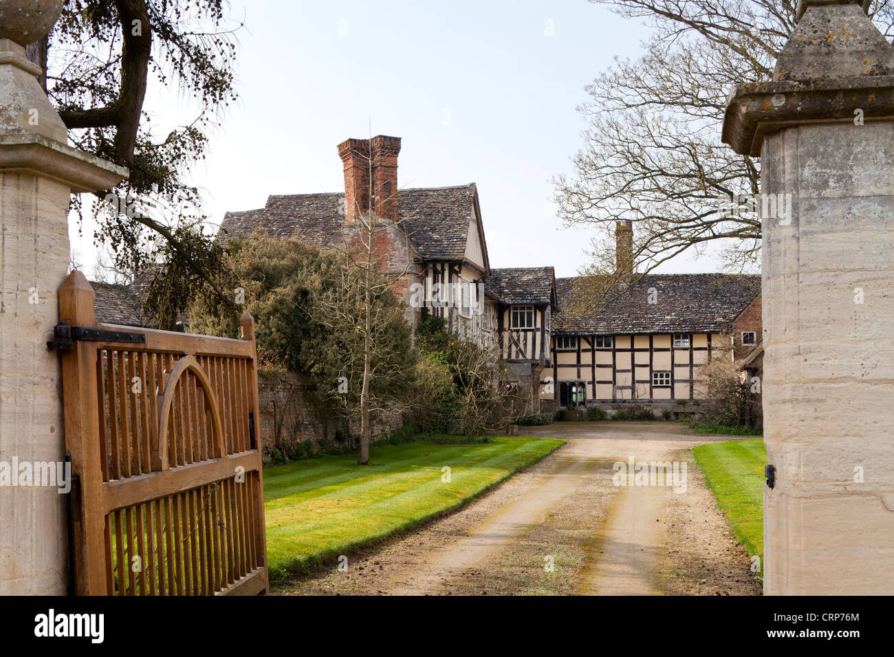 16th century Manor Farm, Frampton on Severn, Gloucestershire - birthplace of Jane Clifford, who was known as Fair - Stock Image