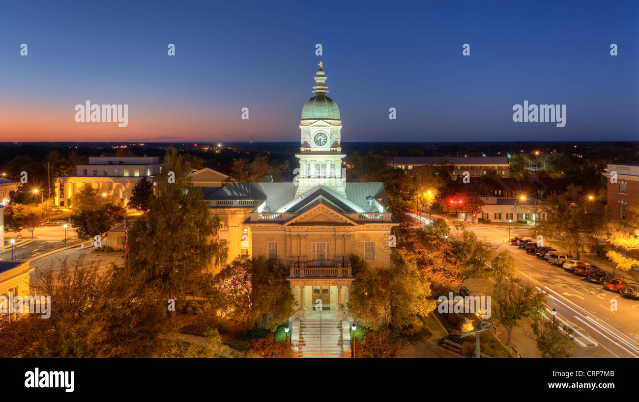 Downtown of Athens, Georgia, USA. - Stock Image