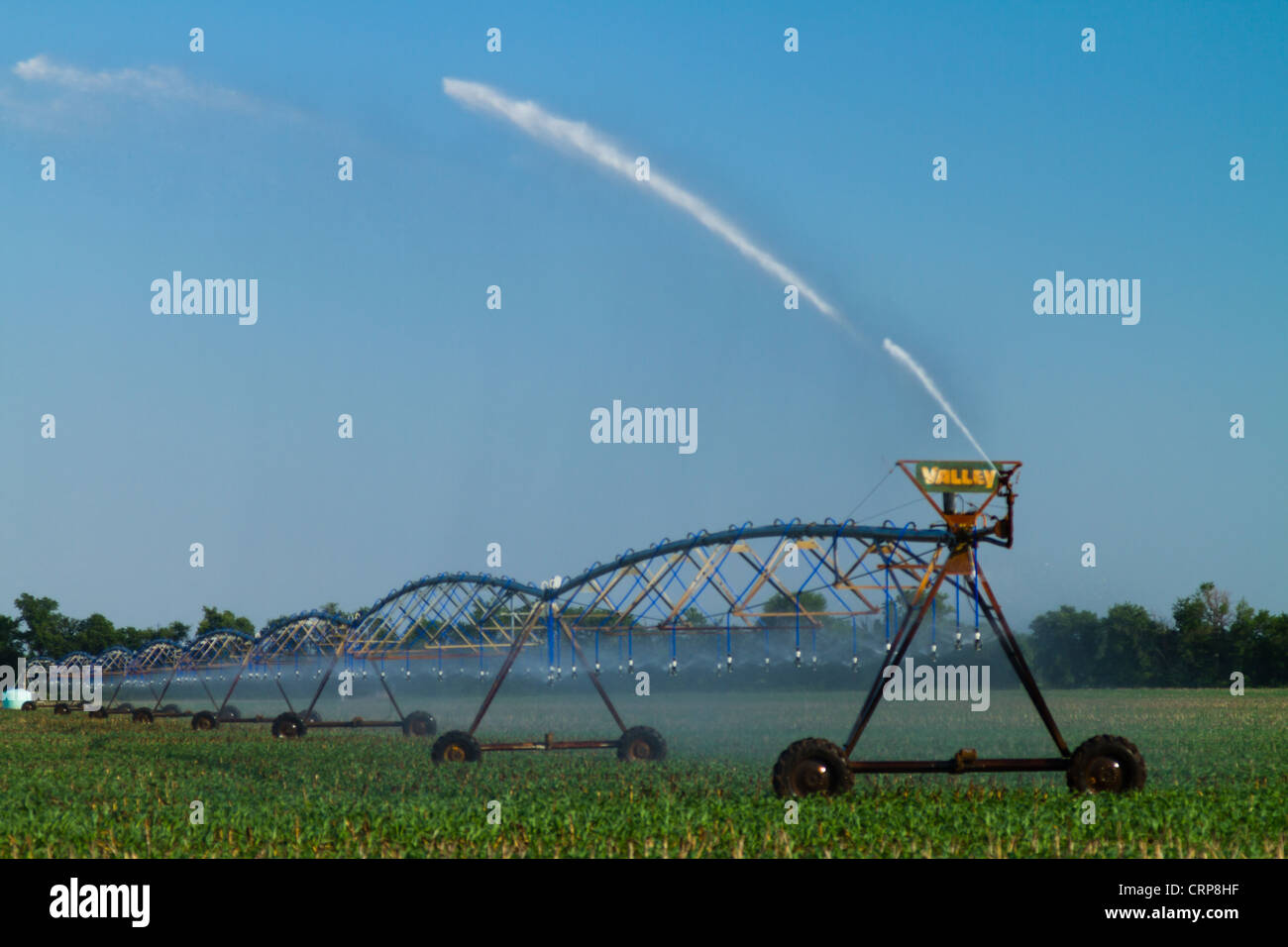 Center Pivot Field Irrigation - Stock Image