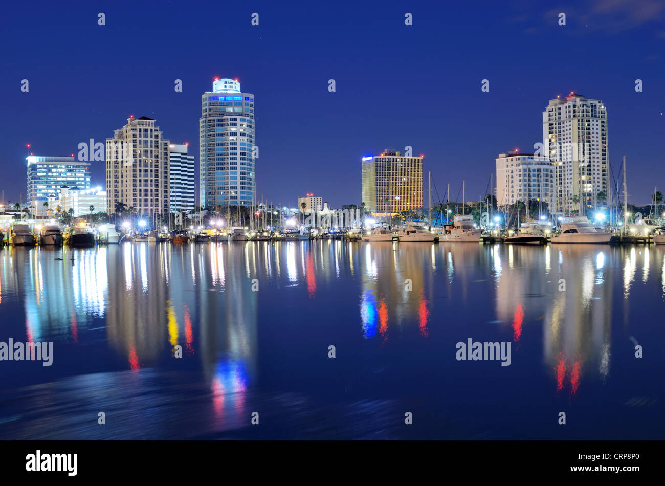 Skyline of St. Petersburg, Florida - Stock Image