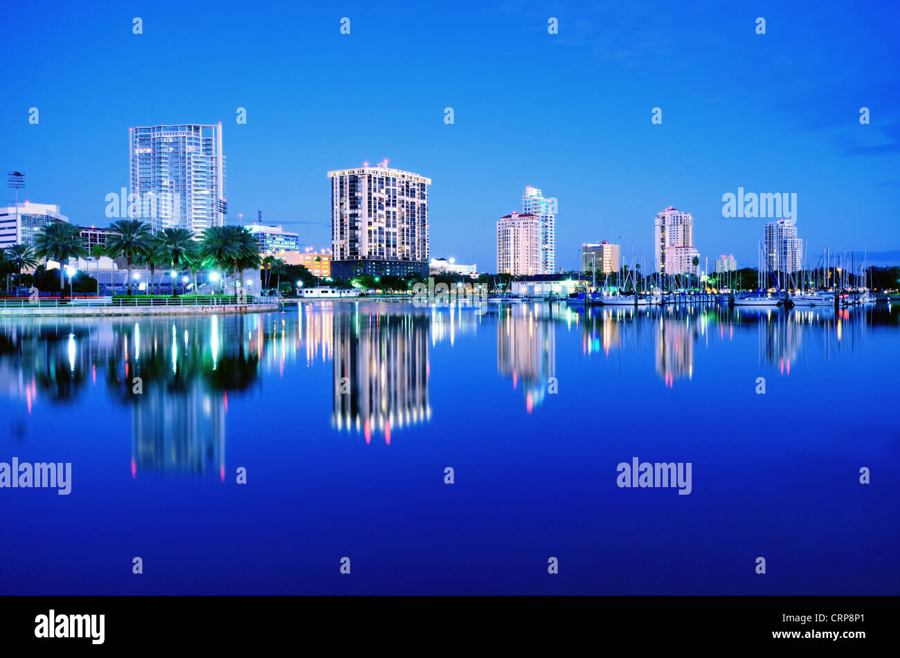 Skyline of St. Petersburg, Florida - Stock Image
