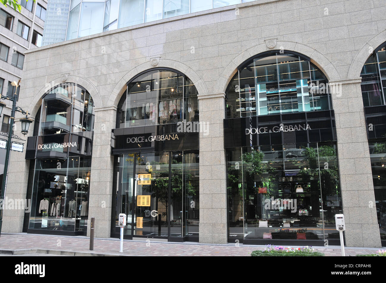Dolce & Gabbana boutique Ginza Tokyo Japan - Stock Image