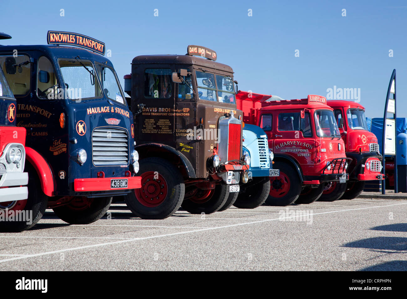 Classic trucks parked up on Great Yarmouth seafront for the East ...