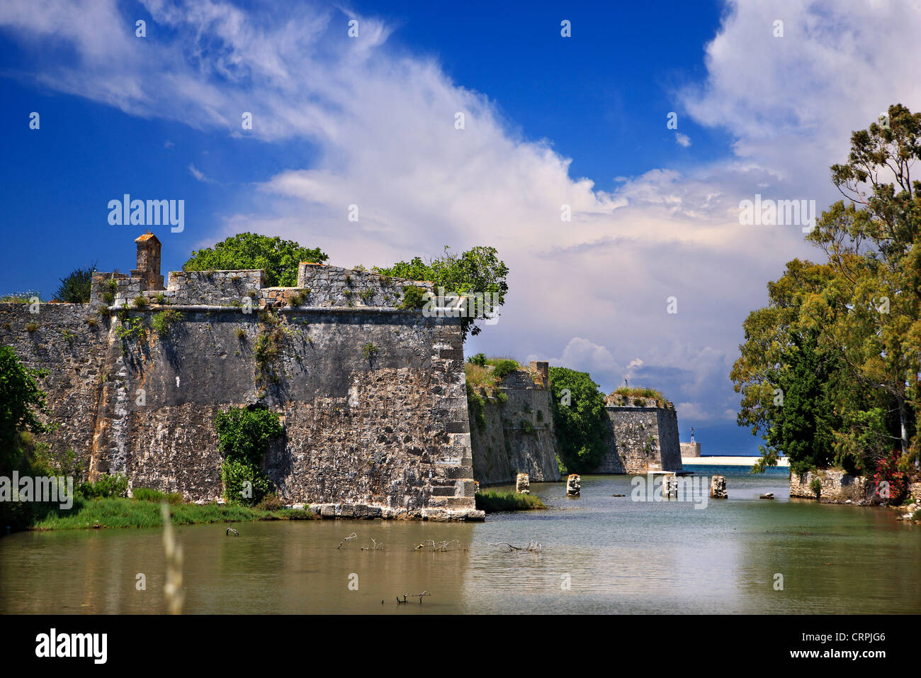 The castle of Agia Mavra, Lefkada (or 'Lefkas') island, Ionian Sea, Eptanisa ('Seven islands'), - Stock Image
