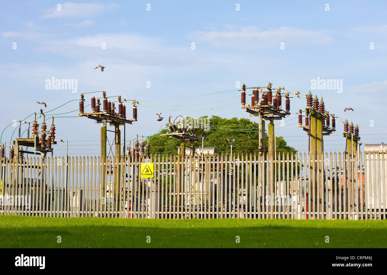 A view of an electricity grid - Stock Image