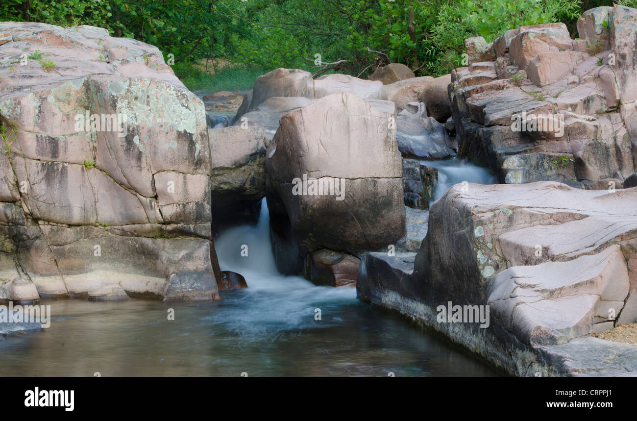 Caster RIver Shut-ins, Amidon Memorial Conservation Area, Madison County, Missouri - Stock Image