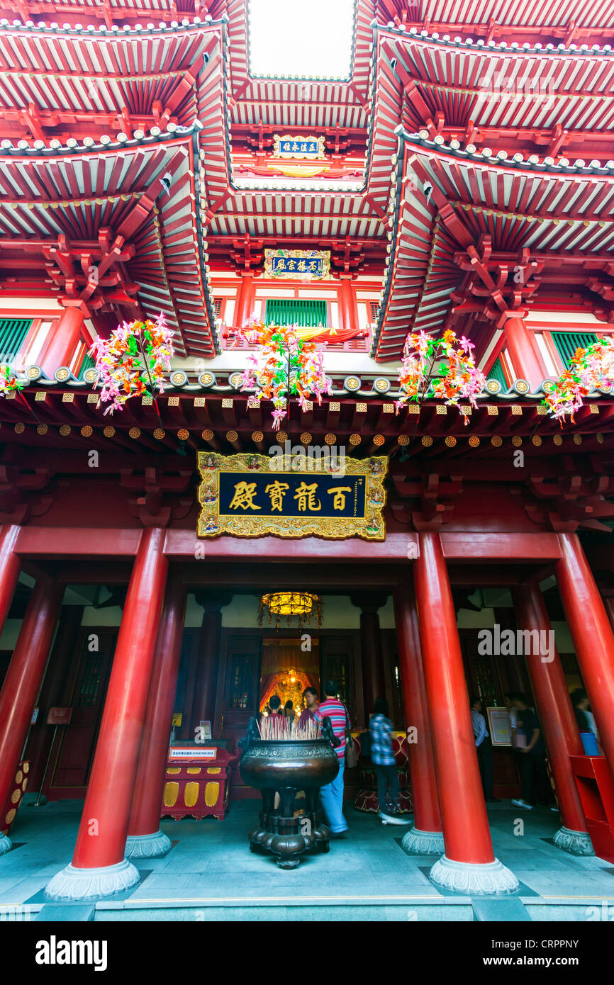 New Buddha Tooth Relic Temple and Museum on South Bridge road in Singapore, South East Asia - Stock Image