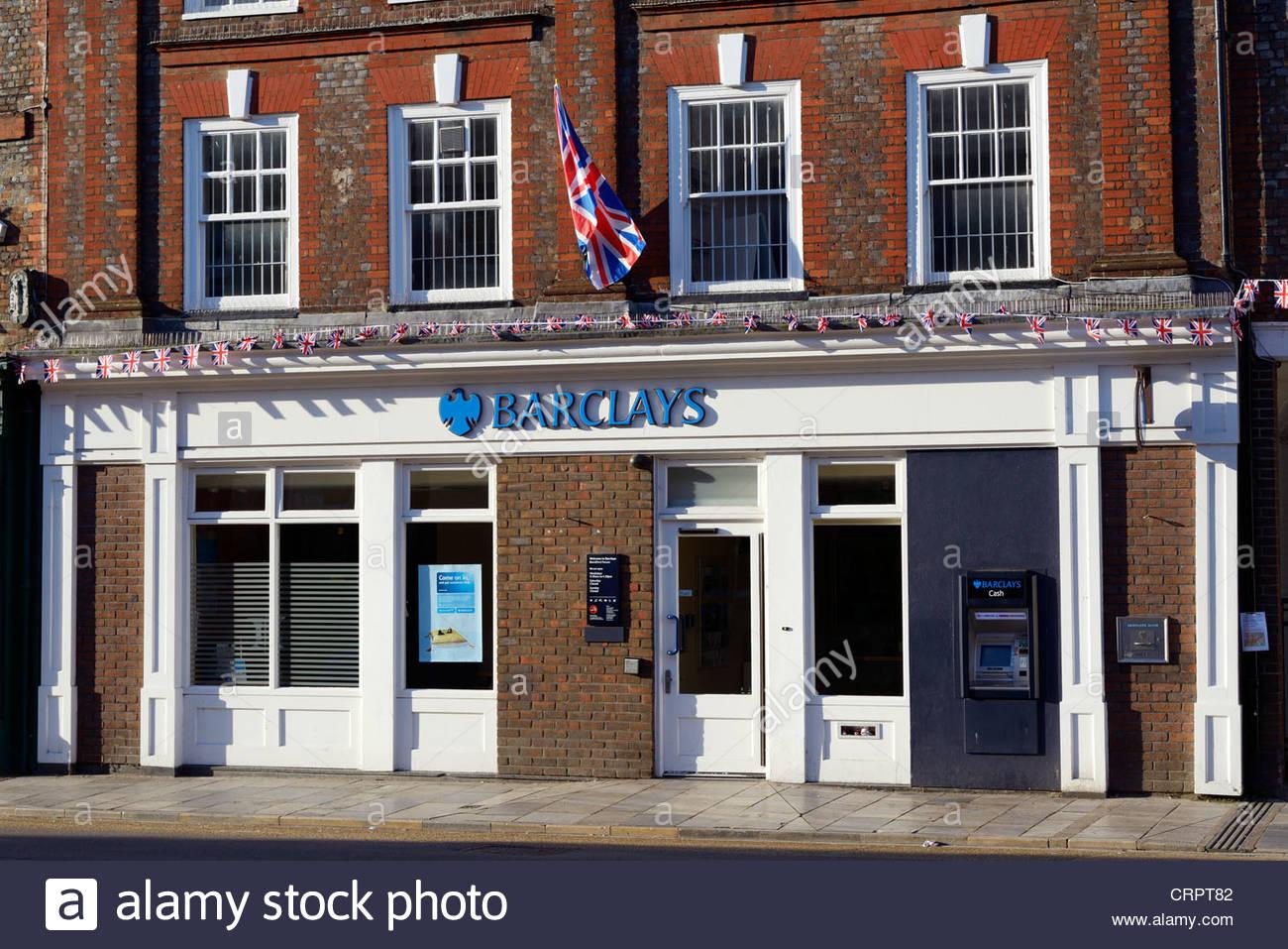 Barclays highstreet branch Bank, Blandford Forum, Dorset England - Stock Image