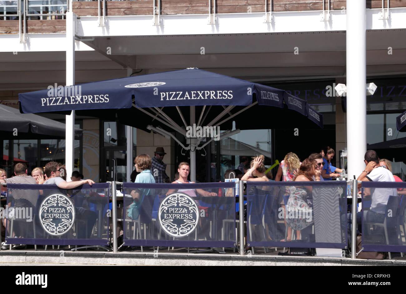 Pizza Express Restaurant Gunwharf Quays Portsmouth Stock