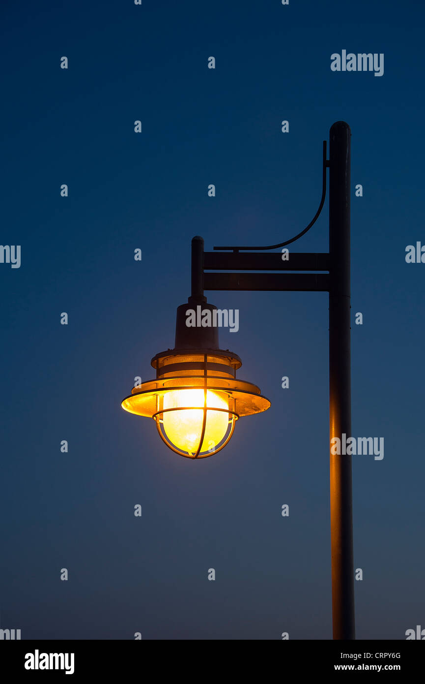 Streetlamp at night. - Stock Image