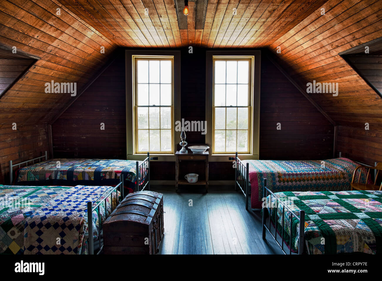 Bunk room, Indian River Life Saving Station Museum, Rehoboth Beach, Delaware, USA - Stock Image