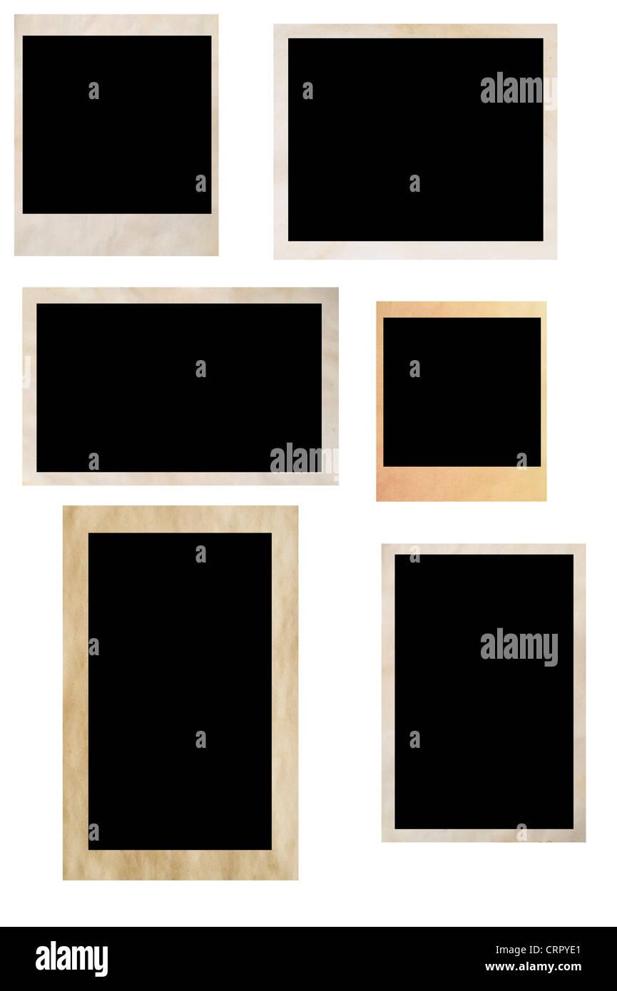 photo frames isolated on white - Stock Image