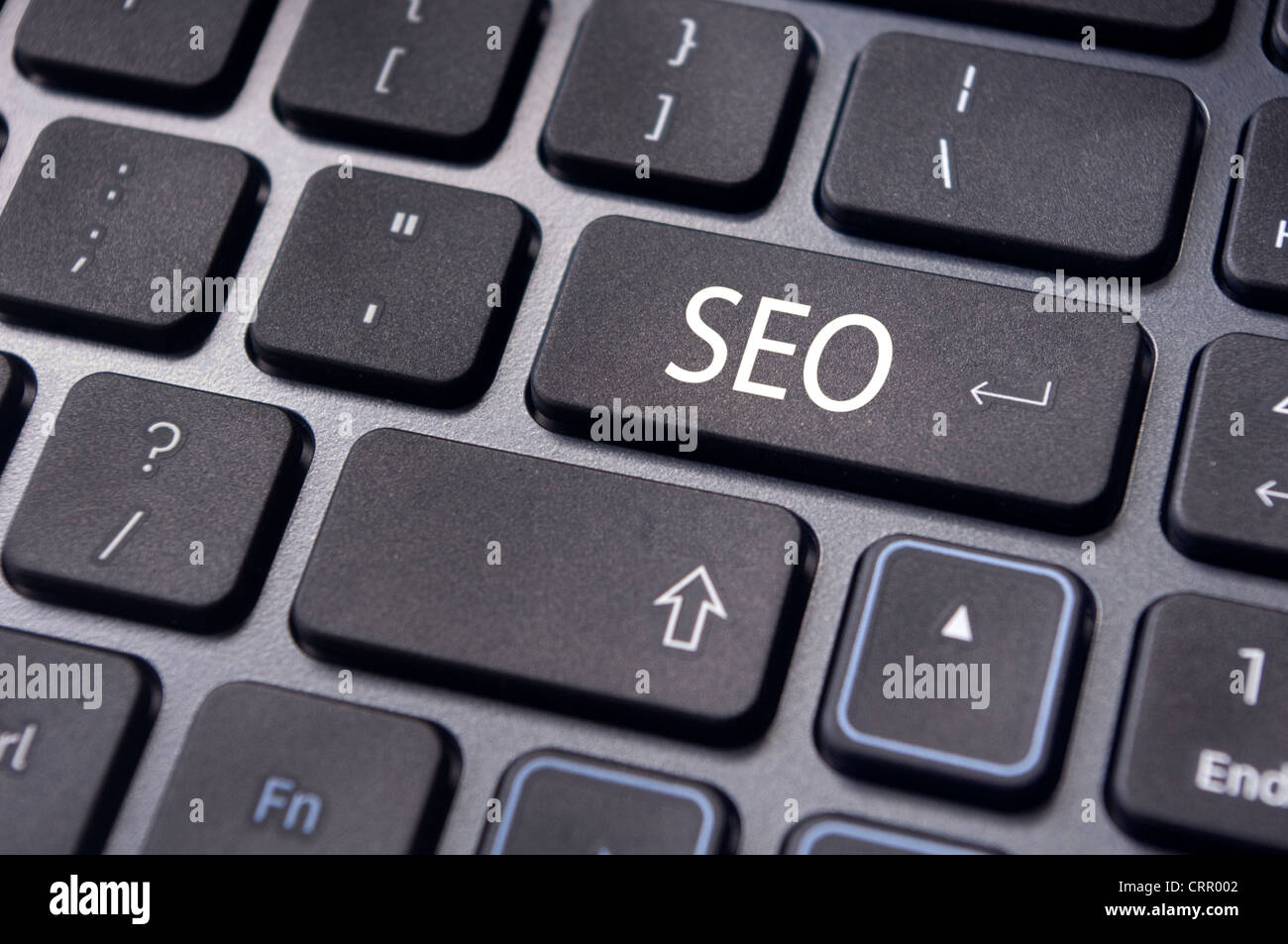 Search engine optimization, SEO concepts, with SEO keyword on enter key of keyboard. - Stock Image